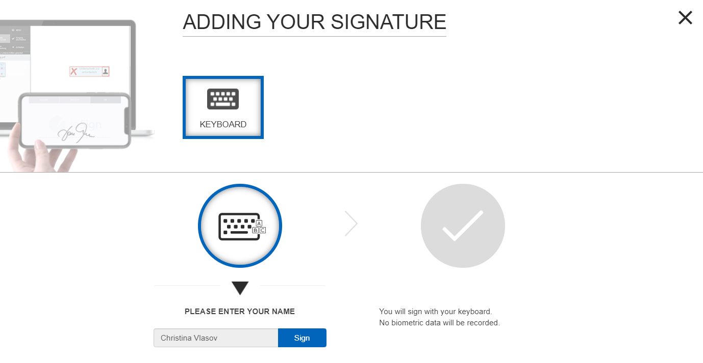 Simple electronic signature with inSign