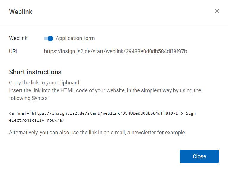 inSign Weblink