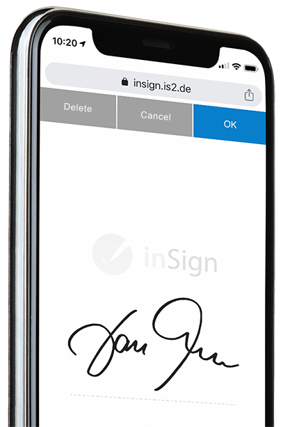 Electronic signature inSign
