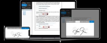 Elektronische Unterschrift auf Smartphone, Tablet und Notebook