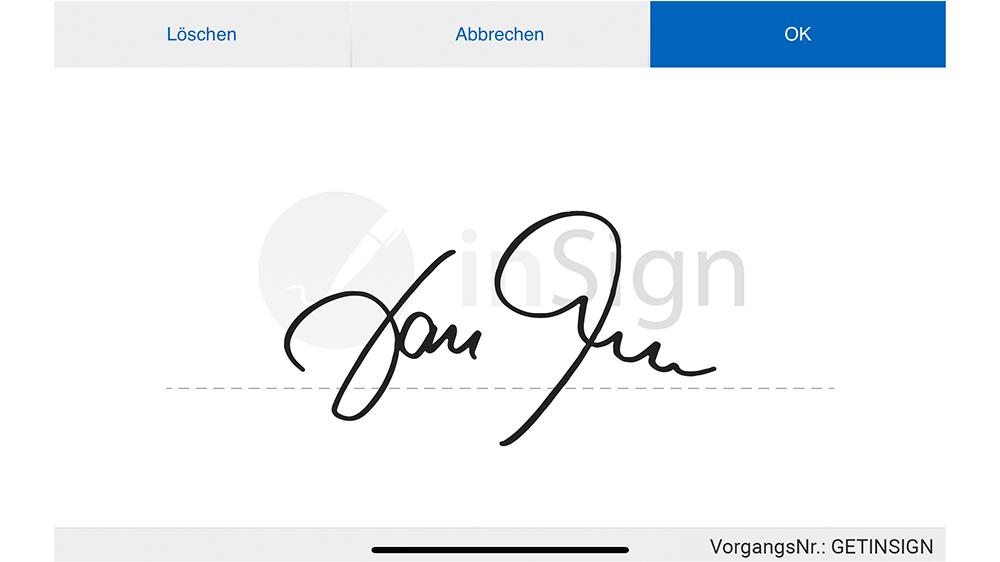 Elektronische Unterschrift mit inSign leisten