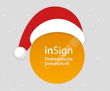 inSign Team wünscht <strong>frohe Feiertage</strong>