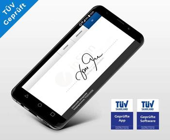Die inSign Software und App ist TÜV-geprüft.