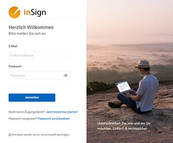 Neue inSign <strong>Benutzeroberfläche</strong>