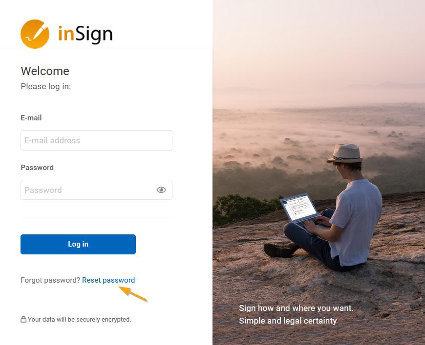 reset inSign password